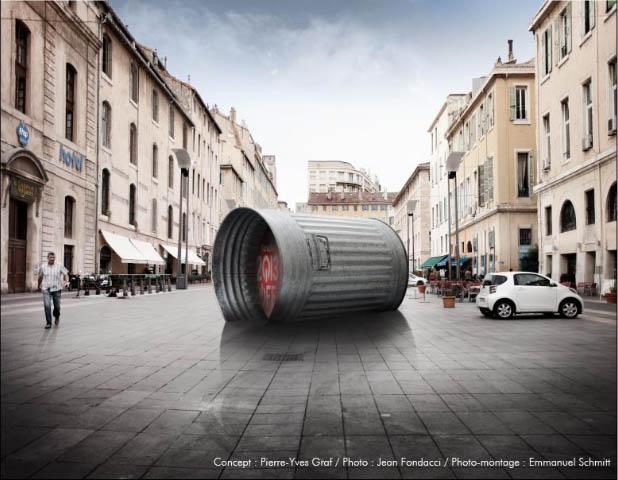 une poubelle moderne du 6 au 25 novembre sur le cours d estienne d orves marseille en goguette. Black Bedroom Furniture Sets. Home Design Ideas